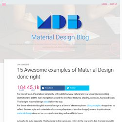 15 Awesome examples of Material Design done right