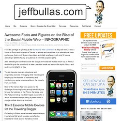 Awesome Facts and Figures on the Rise of the Social Mobile Web - INFOGRAPHIC