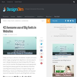 42 Awesome use of Big Fonts in Websites