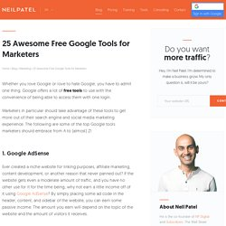 25 Awesome Free Google Tools for Marketers