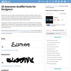25 Awesome Graffiti Fonts for Designers