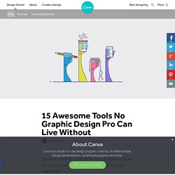 15 Awesome Tools No Graphic Design Pro Can Live Without