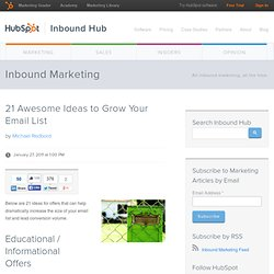 21 Awesome Ideas to Grow Your Email List