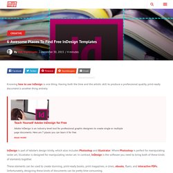 6 Awesome Places To Find Free InDesign Templates