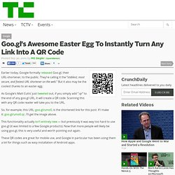 Goo.gl's Awesome Easter Egg To Instantly Turn Any Link Into A QR Code