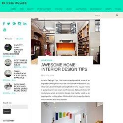 Awesome Home Interior Design Tips