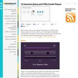 10 Awesome jQuery and HTML5 Audio Players