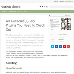 40 Awesome jQuery Plugins You Need to Check Out
