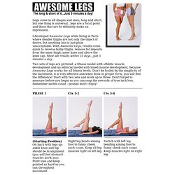 Awesome Legs the T-Tapp Way!