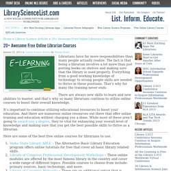 20+ Awesome Free Online Librarian Courses