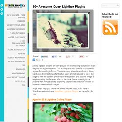 10+ Awesome jQuery Lightbox Plugins