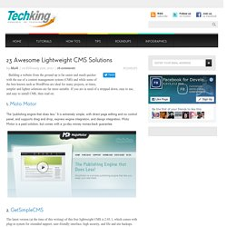 23 Awesome Lightweight CMS Solutions