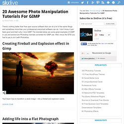 20 Awesome Photo Manipulation Tutorials For GIMP