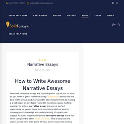 How to Write Awesome Narrative Essays