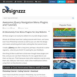 Awesome jQuery Navigation Menu Plugins and Tutorials