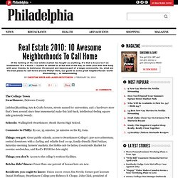 Real Estate 2010: 10 Awesome Neighborhoods To Call Home