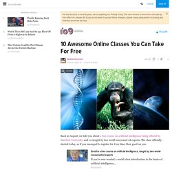 10 Awesome Online Classes You Can Take For Free