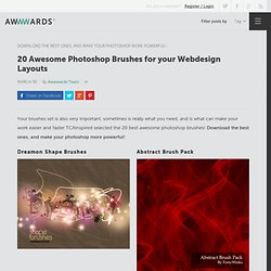 20 awesome Photoshop Brushes for your webdesign layouts