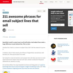 211 awesome phrases for email subject lines that sell