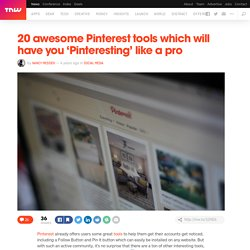 20 Awesome Pinterest Tools
