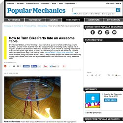 How to Turn Bike Parts Into an Awesome Table