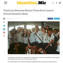 There's an Awesome Reason These Boys Came to School Dressed in Skirts