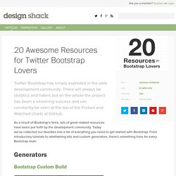 20 Awesome Resources for Twitter Bootstrap Lovers