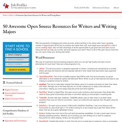 50 Awesome Open Source Resources for Online Writers