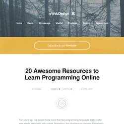 20 Awesome Resources to Learn Programming Online