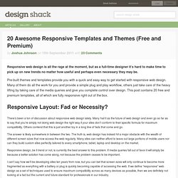 20 Awesome Responsive Templates and Themes (Free and Premium)