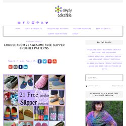 Choose from 21 Awesome Free Slipper Crochet Patterns