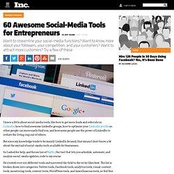 60 Awesome Social-Media Tools for Entrepreneurs