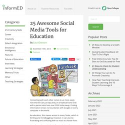 25 Awesome Social Media Tools for Education
