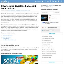 50 Awesome Social Media Icons & Web 2.0 Icons