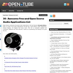 30+ Awesome Free and Open Source Audio Applications List | Open Source...
