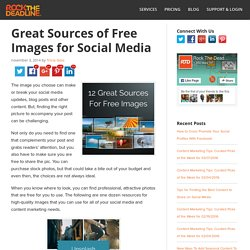 Awesome Sources for Free Images to Use on Your Blog and Social Media Posts
