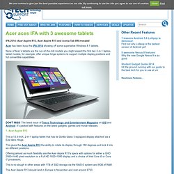 Acer aces IFA with 3 awesome tablets -
