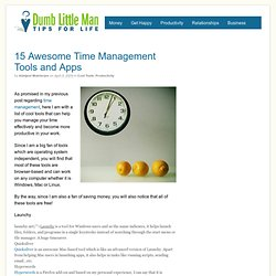 15 Awesome Time Management Tools and Apps