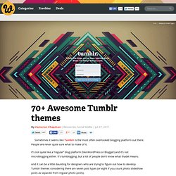 70+ Awesome Tumblr themes