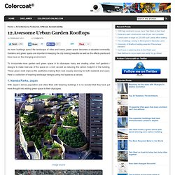12 Awesome Urban Garden Rooftops | Colorcoat® Blog