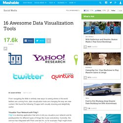16 Awesome Data Visualization Tools