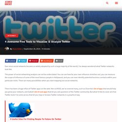 4 Awesome Free Tools to Visualize & Analyze Twitter