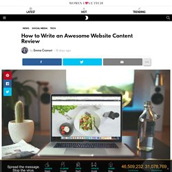 How to Write an Awesome Website Content Review