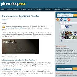 Design an Awesome Band Website Template | PhotoshopStar