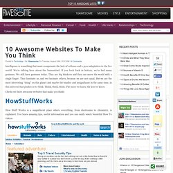10 Awesome Websites to Make You Think