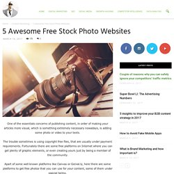 5 Awesome Free Stock Photo Websites - Ade Camilleri