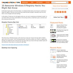 10 Awesome Windows 8 Registry Hacks You Might Not Know