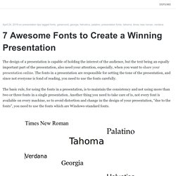 7 Awesome Fonts to Create a Winning Presentation