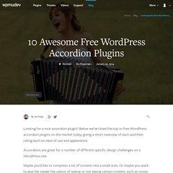 10 Awesome Free WordPress Accordion Plugins