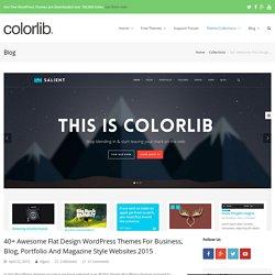 40+ Awesome Flat Design WordPress Themes 2015